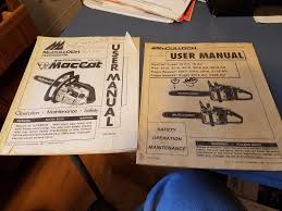 mcculloch chain saw user manuals mac maccat eager beaver what u0027s