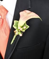 calla boutonniere apricot calla prom boutonniere in pawhuska ok tallgrass