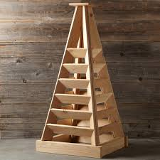 pyramid shaped cedar garden planter so that u0027s cool