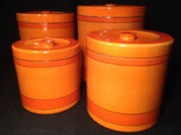 vintage kitchen canisters orange kitchen canisters thing