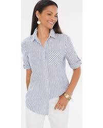 womens no iron blouses amazing deal on chico s s no iron linen striped crisscross