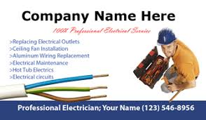 Networking Business Card Examples Electricians Business Cards
