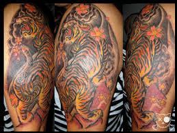 traditional japanese tiger flash tiger tats
