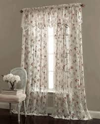 Lace Curtain Lace Curtains Brewster Floral Lace Curtains Ivory By Lorraine