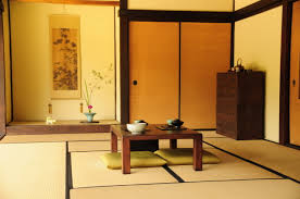comfortable traditional japanese living room idea with small table
