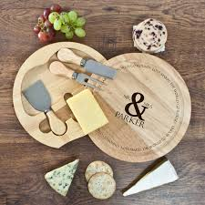 personalized cheese board set personalised couples cheese board set buy from prezzybox
