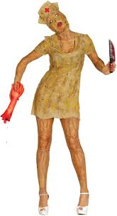 ladies silent zombie nurse fancy dress costume fancy me limited