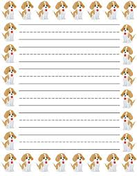 printable animal lined paper lined paper for kids loving printable
