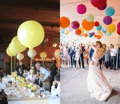 balloon and paper lantern wedding reception décor u2013 weddceremony com