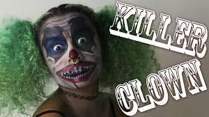 killer clown makeup halloween killer clown makeup tutorial how to be a scary clown for