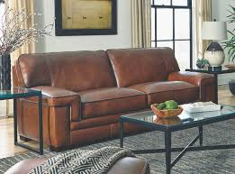 simon li living room chestnut leather sofa 044358 furniture fair
