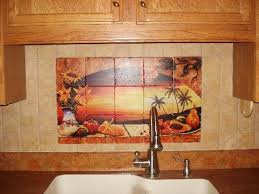kitchen tile backsplash murals mexican tiles sunset tile murals tropical kitchen backsplashes