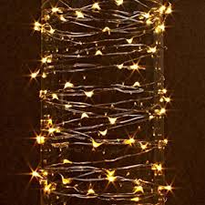 buy battery operated warm white led string lights with bell
