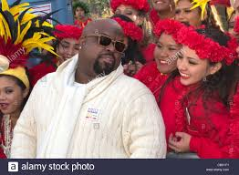 singer and producer ce lo green with members of the hawaii all state