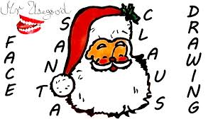 how to draw santa claus face easy for kids christmas stuff