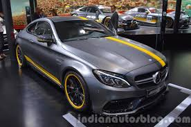 mercedes land rover matte black mercedes amg c63 coupe edition 1 front three quarter at the iaa