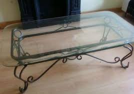wrought iron coffee table with glass top wrought iron coffee table with glass top handmade contemporary