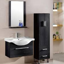 bathroom vanity made of mdf with ceramic basin mirror and shelf