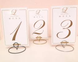 Table Numbers Wedding Set Of 10 Wedding Round Shaped Table Number Holders