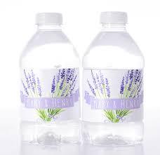 lavender flowers vintage wedding water bottle labels labelsrus