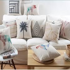geometric home decor geometric home decor pillow cushion linen cotton coconut trees