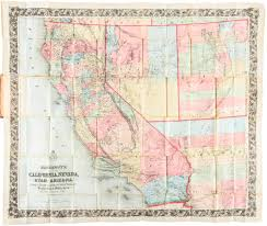 Arizona Map With Cities And Towns by Bancroft U0027s Map Of California Nevada Utah And Arizona Price