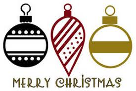 clipart picture of three ornaments