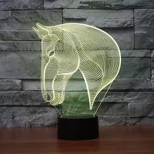 3d Lamps Amazon Horse Head 3d Illusion Lamp Koreyoshi 7 Color Change Night Light