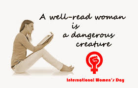 Womens Day Meme - a well read woman is a dangerous creature hyvää kansainvälistä