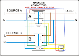 generator changeover switch wiring diagram and connecting the to 3