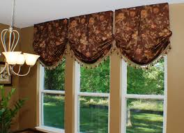 Brown Floral Curtains Furniture Interior Design With Classic White Chandelier Near