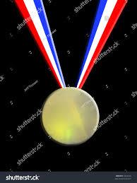 black and blue ribbon gold medal white blue ribbon stock illustration 1023470
