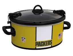 amazon com crock pot green bay packers nfl 6 quart cook u0026 carry