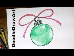 drawing how to draw a tree ornament easy drawing