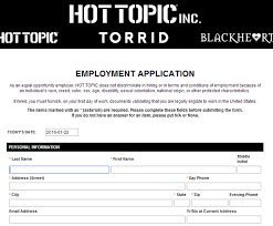 how to apply for topic jobs online at hottopic com jobs