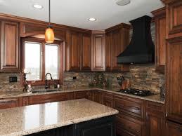 Kitchens With Stone Backsplash by Stone Kitchen Backsplash