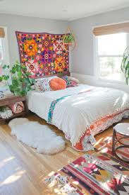 best 25 natural bedroom ideas on pinterest earthy bedroom a cheery patterned oasis in california bright boho bedroom