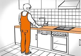küche einbauen küchenarbeitsplatte einbauen obi ratgeber