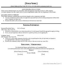 Job Experience Resume by Sample Resume For New Graduate Lpn Nurse Download Sample Lpn