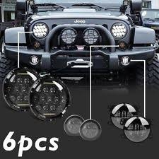 jeep wrangler square headlights jeep wrangler unlimited lights ebay