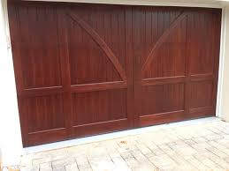 Garage Doors Charlotte Nc by Custom Stained Clear Red Grandis Carriage House Wood Garage Door