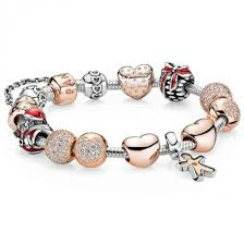 rose gold bracelet charm images Deals pandora rose gold hearts gingerbread man cozy christmas jpg