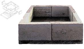 Square Fire Pit Insert by Outdoor Stone Fire Pit Kits And Fire Pit Inserts