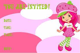 printable birthday invitations strawberry shortcake 6 best images of strawberry shortcake invitation template free
