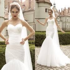 trumpet wedding dresses fabulous simple tulle mermaid trumpet wedding dresses 2017