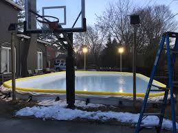 how to create a backyard ice skating rinks for customers