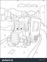 truck car city coloring page illustration stock vector 393387985