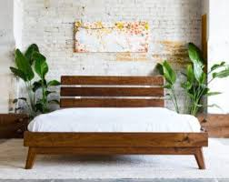 modern wood bed frame genwitch