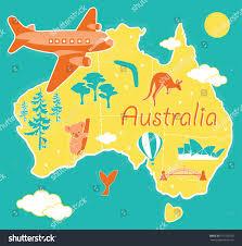 Map Australia Cartoon Map Australia Stock Vector 151155329 Shutterstock