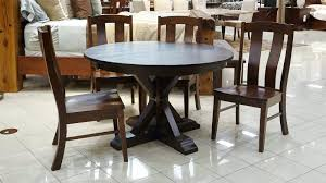 amish 72 inch round dining table amish round dining table with